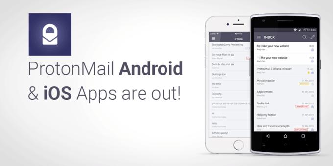 Aplikacja mobilna ProtonMail na Androida i IOS-a