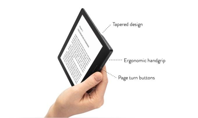 Kindle Oasis - budowa (jak trzyma się w ręku?)