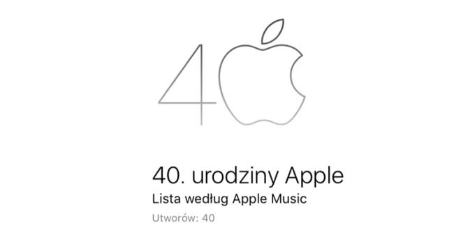 Playlista 40. urodziny Apple (Apple Music)