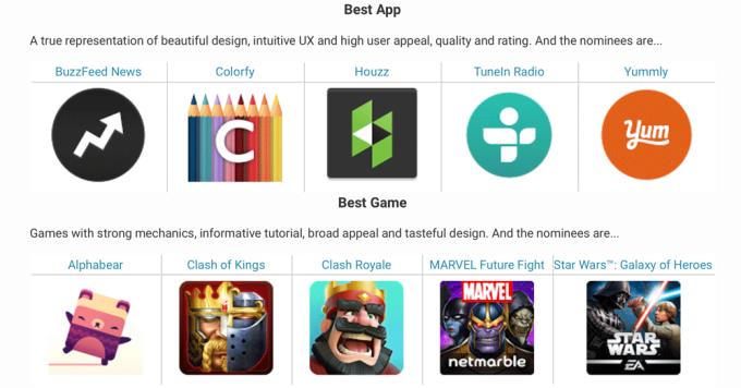 Najlepsze gry i aplikacje nominowane do Google Play Awards 2016
