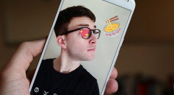 Naklejki 3D Snapchata