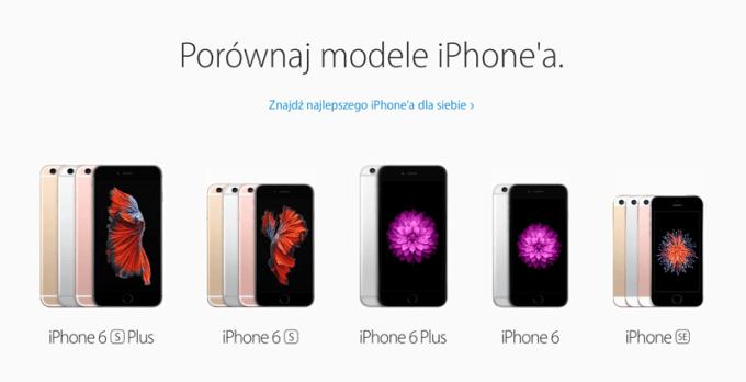 Porównaj modele iPhone'a