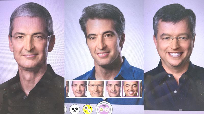 Funkcja podmiany twarzy na Snapchacie (face swap)