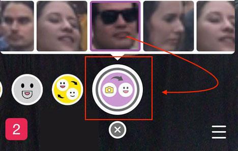 Filtr podmiany twarzy w Snapchacie