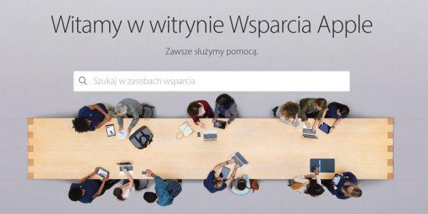 Nowa strona Wsparcia Apple