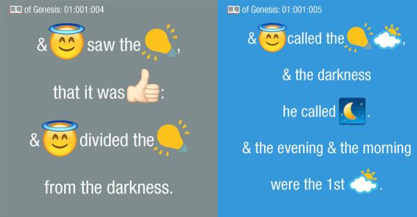 Biblia została przetłumaczona na emotikony