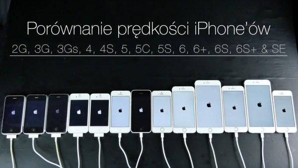 Porównanie prędkości wszystkich iPhone'ów 2016