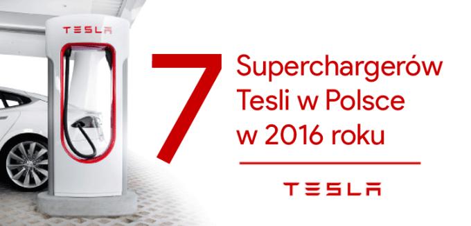 W 2016 roku otwartych zostanie 7 Superchargerów Tesli w Polsce