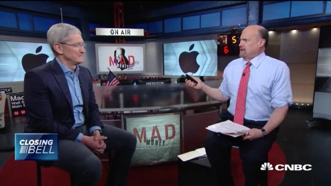 Tim Cook i Jim Cramer - rozmowa w CNBC z 2 maja 2016 r.