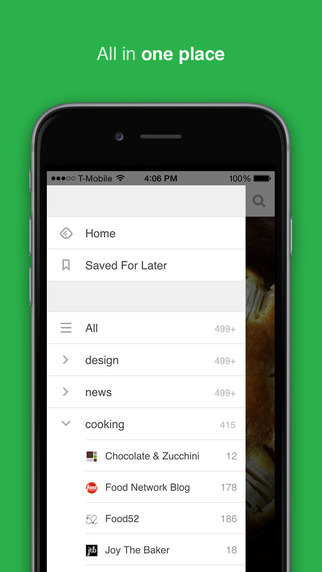 feedly app - screen ios