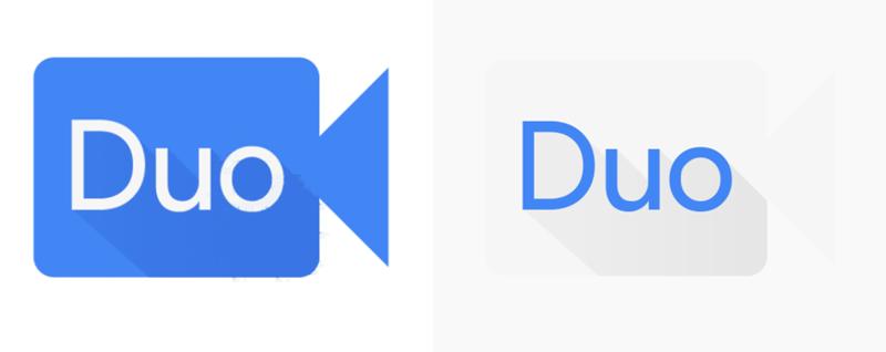 Ikona aplikacji Duo przed i po zmianie