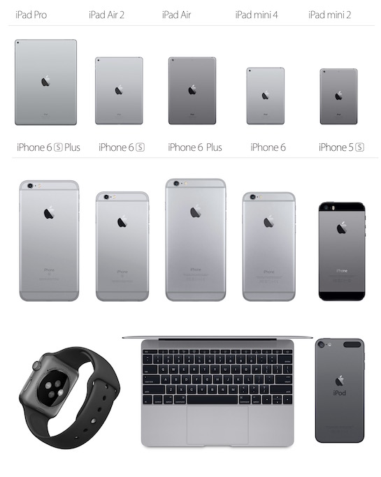 odcienie gwiezdnej szarości na urządzeniach firmy Apple