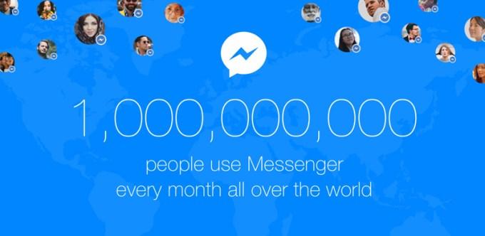 Miliard aktywnych użytkowników miesięcznie aplikacji Facebook Messenger