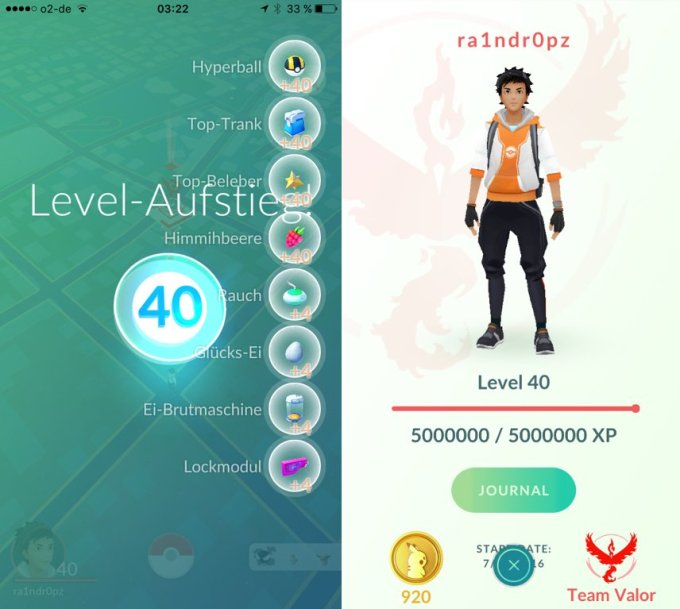 Level 40 w Pokemon GO