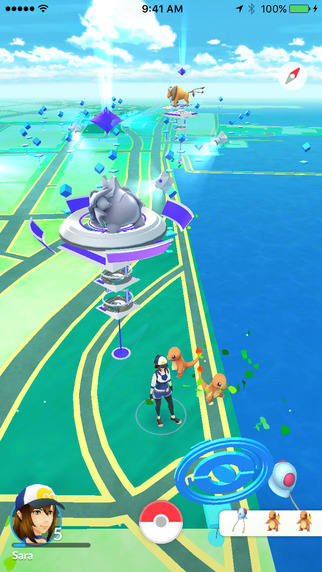 Screen z gry Pokemon GO