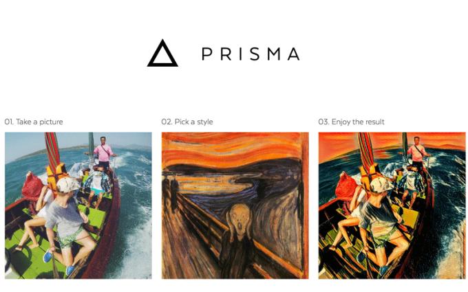 Aplikacja Prisma z artystycznymi filtrami do zdjęć