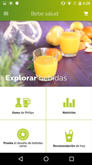 Screen z aplikacji Zdrowe napoje (Android)