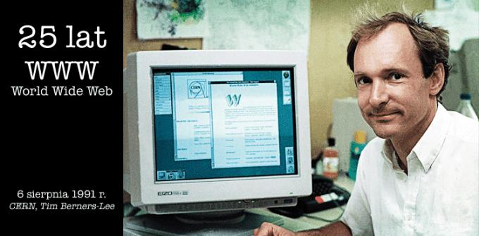 Tim Berners-Lee - twórca pierwszej strony internetowej, opublikowanej 6 sierpnia 1991 r.