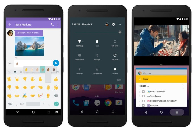 Screen systemu Android 7 Nougat