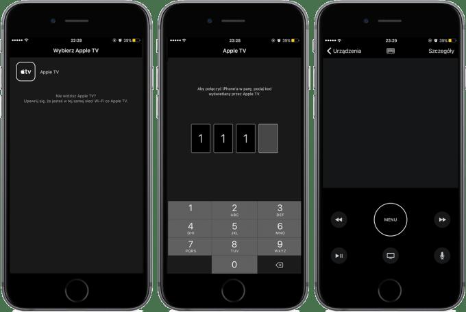 Apple TV Remote App - screeny z polskiej wersji aplikacji