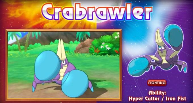 Crabrawler - pokemon z Pokemon Moon i Sun