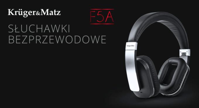 Bezprzewodowe słuchawki Kruger&Matz F5A z aktywną redukcją szumów