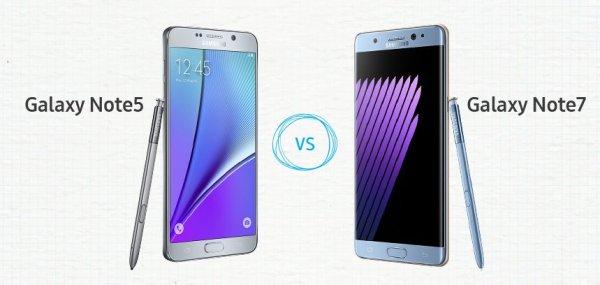 Samsung Galaxy Note7 vs. Note5 – porównanie