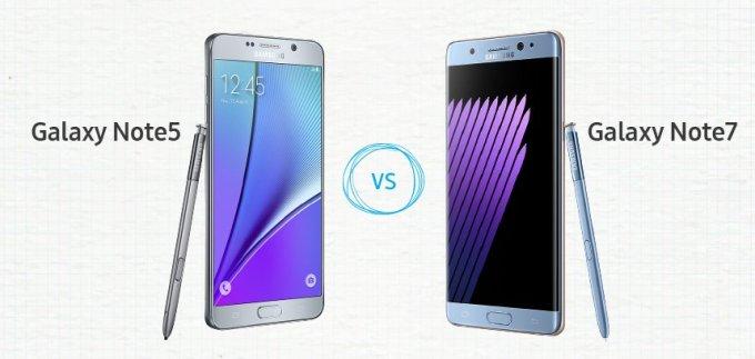 Galaxy Note 7 vs. Galaxy Note 5 - porównanie