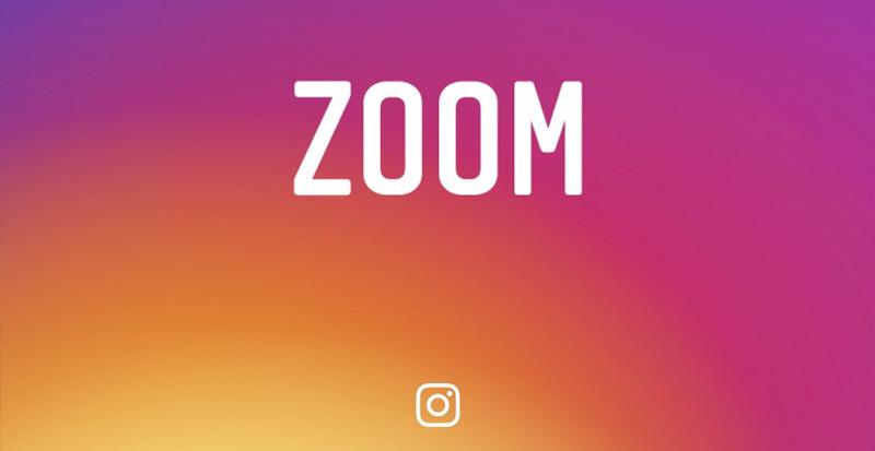 Instagram z funkcją zoom