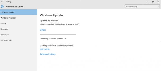 Automatyczna instalacja Windows 10 (wersja 1607)
