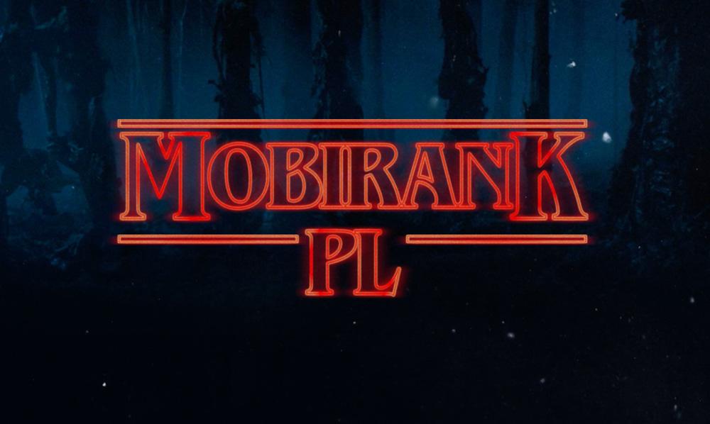 Mobirank PL w stylu logo Stranger Things