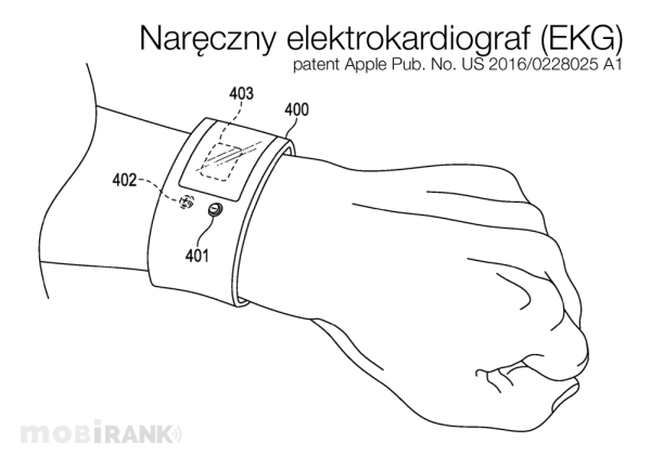 Apple patentuje nowe urządzenie EKG wearable