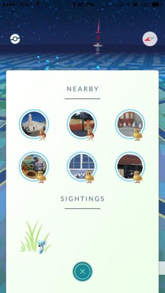 Nowy widok Nearby w Pokemon GO (screen)