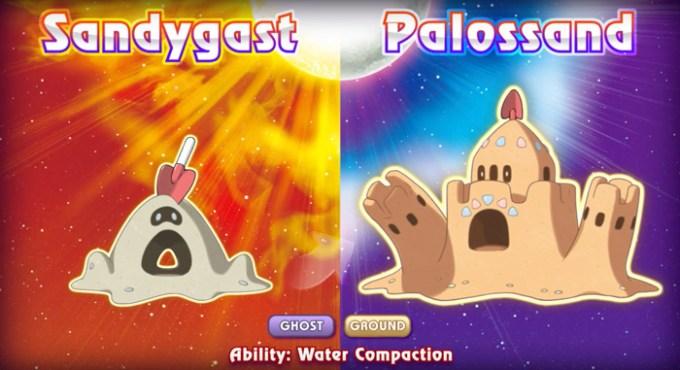 Sandygast i Pallosand z Pokemon Sun i Moon