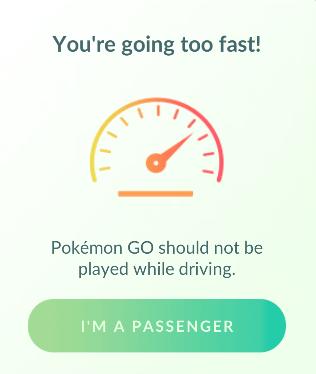 Komunikat o zbyt szybkim przemieszczaniu - Pokemon GO