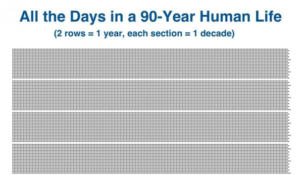 Te infografiki pokazują, jak krótkie jest życie