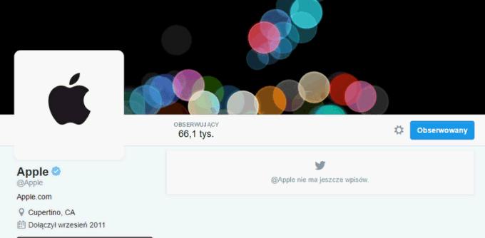Oficjalne konto Apple na Twitterze