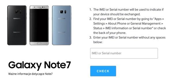 Sprawdź, czy Twój Galaxy Note7 jest wadliwy?