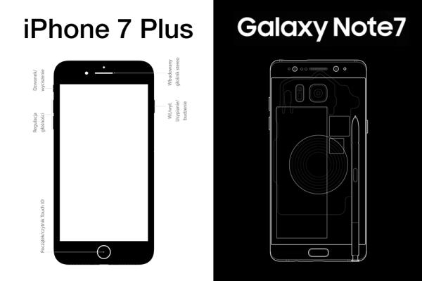iPhone 7 Plus vs. Galaxy Note 7 – porównanie