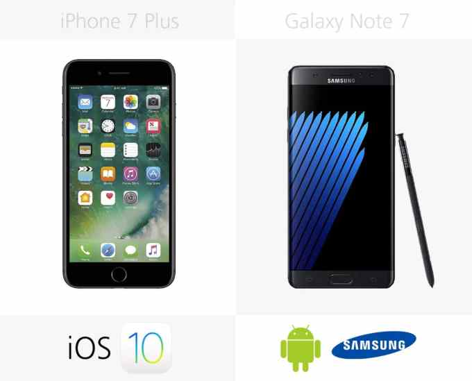 System operacyjny: iPhone 7 Plus vs. Galaxy Note 7