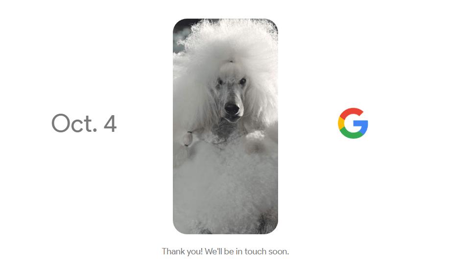 Teaser konferencji Google (4 października 2016 r.)