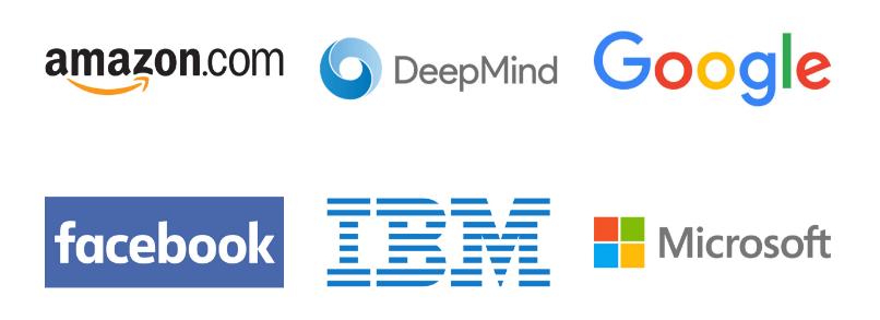 Partnership on AI - firmy członkowskie (logotypy)
