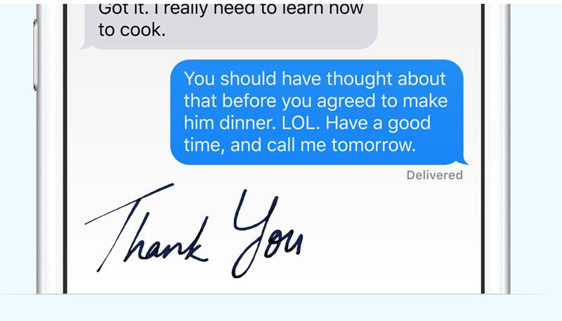 Pismo odręczne iMessage pod iOS 10