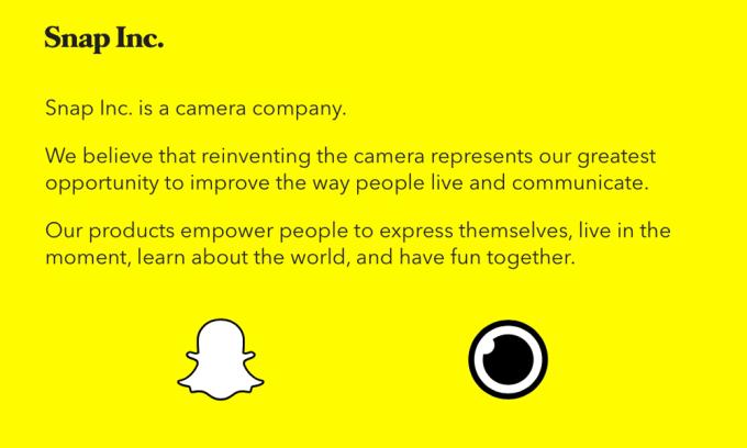 Snap Inc. - camera company