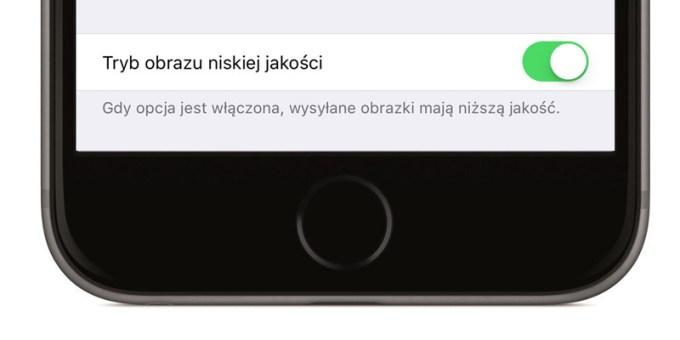 Tryb obrazu niskiej jakości w iMessage (iOS 10)