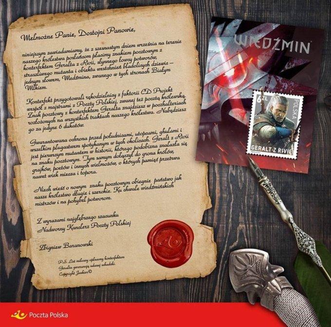 List rzecznika Poczty Polskiej w wiedźminowym stylu.
