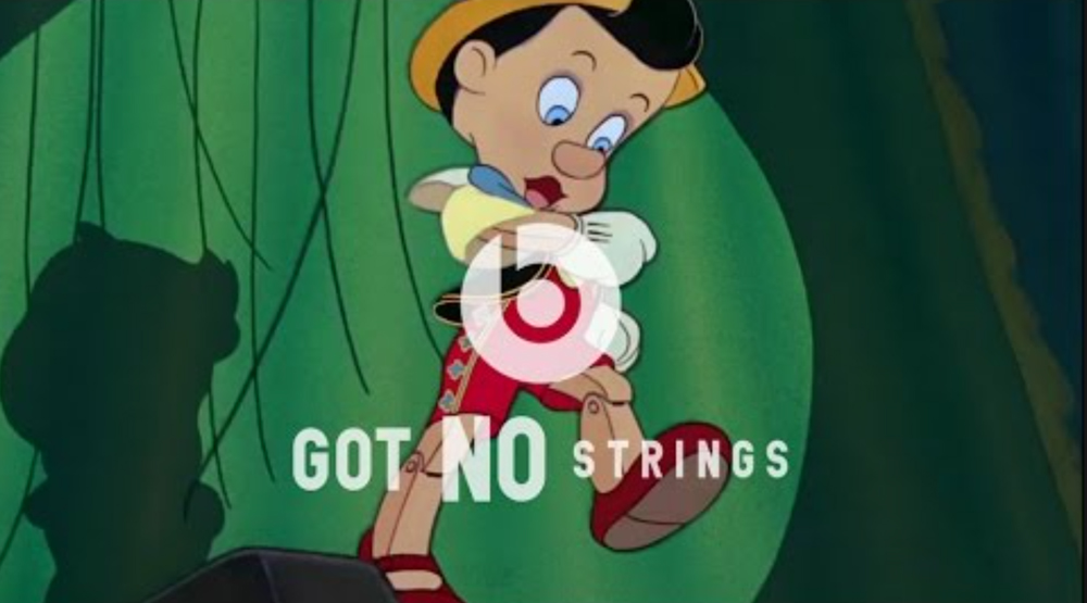 "Reklama Beats by Dre pt. ""Got No Strings"""