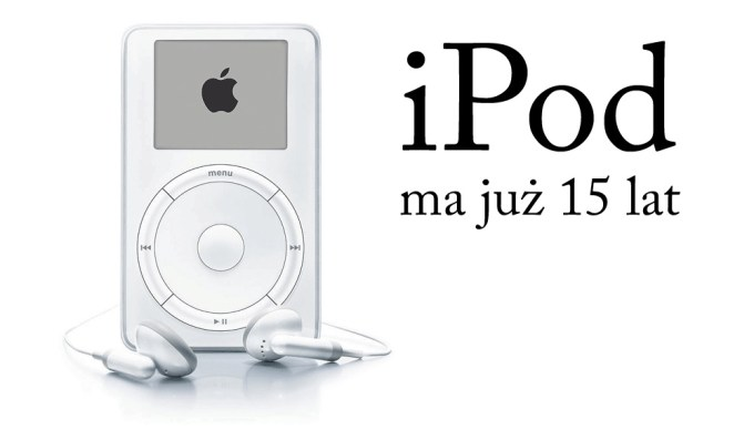 iPod firmy Apple skończył 15 lat