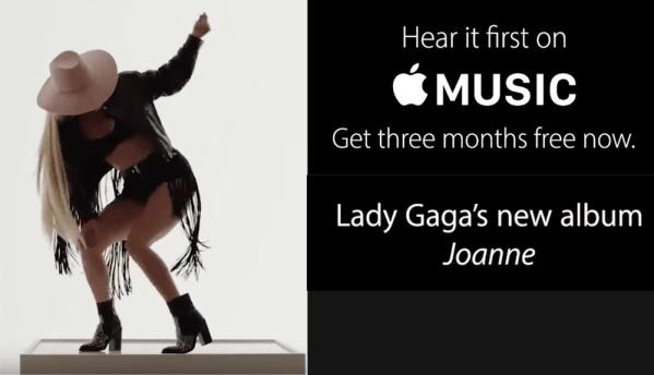 """Album """"Joanne"""" Lady Gagi w Apple Music"""