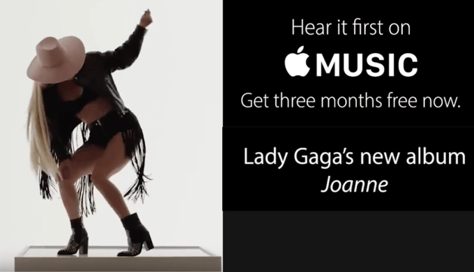 """Lady Gaga """"Joanne"""" w Apple Music"""""""